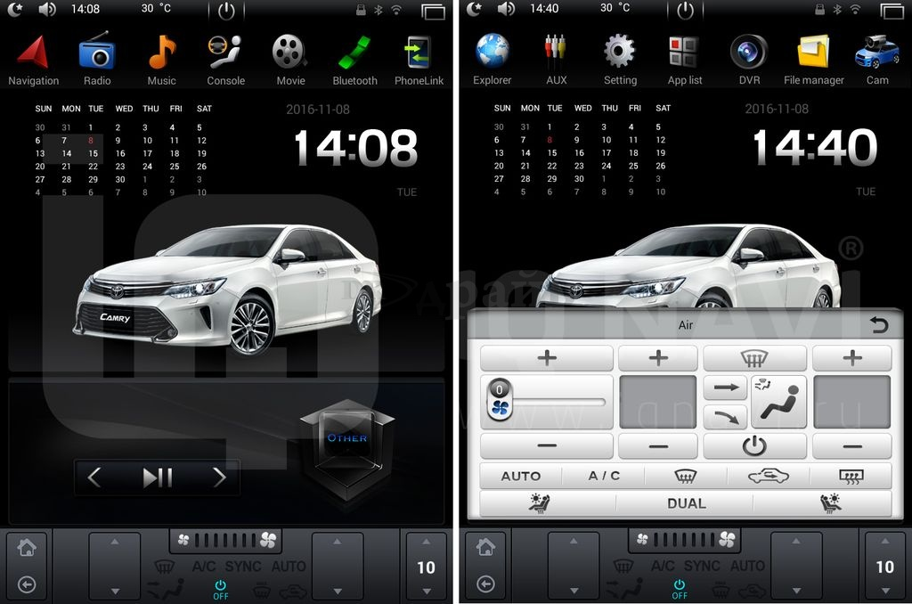 "Автомагнитола IQ NAVI T54-1410-TS Ford Focus III (2011-2015) на Android 4.4.2 Quad-Core (4 ядра) 10,4"" Full Touch"