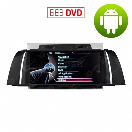 "Видеоинтерфейс / автомагнитола IQ NAVI VBM-1004 BMW 5er (F07 / F10 / F11) (2010+) на Android 4.4.2 Quad-Core (4 ядра) 10,1"" Full Touch"
