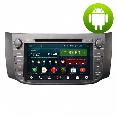 Автомагнитола IQ NAVI D44-2104 Nissan Tiida (C13) (2015+) на Android 4.4.2 Quad-Core (4 ядра) 8""